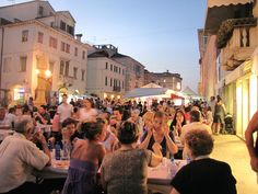 night events will be hosted by the local Sagra del Pesce (Fish Party), with tons and tons of fresh roasted and fried fish, eaten on the main road...