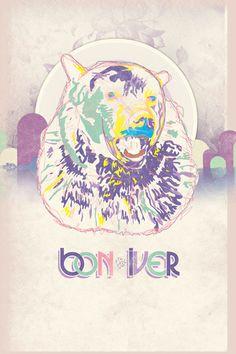 Bon Iver tour poster by Dechazier Stokes-johnson Bon Iver, Tour Posters, Band Posters, Music Posters, Music Love, Good Music, Indie Music, Music Bands, Album Covers