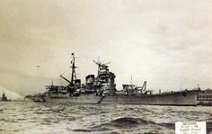 Lot-2406-14:  Japanese cruiser Ashigara, Nachi class, starboard view, December 1940. Ashigara was sunk on June 8, 1945, by combined Allied forces.   Halftone copy from the files of the Department of Naval Intelligence, June 1943.   Courtesy of the Library of Congress.  (2016/05/12).