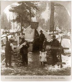 Traders tent. Sheep Camp, Alaska