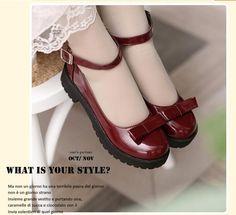 cbad6dcba Harajuku Lolita cos sapatos de estudante vento colégio estilo clássico  sapatos de couro sapatos princesa bonito 34 43 em Apartamentos das mulheres  de ...
