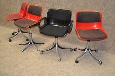 Osvaldo Borsani voor Tecno - stoelen type Modus SM203 - 1970 - 1980