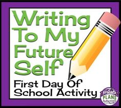 Start your year off by having students complete this fun first day assignment.  Writing To Your Future Self has students fill in a one page worksheet with four sections about themselves, their world, their interests, and their goals.  Prompting questions are detailed, so students will know exactly what they can include in each section.