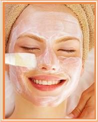 Facial mask against zits and blackheads: