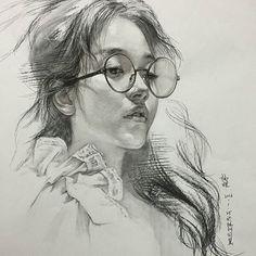 中国女孩 杭州画室杨煌 国美毕业生教师#스케치##素描##sketch##charcoal##drawing##art# #スケッチ##ร่าง##artwork##wip##sketching##artist##pencil #draw #human #artshow #painting #craft #skill #taste #그림을그리자 #미술 #화가#