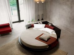 Modrest Plato Round Bed Black From Contemporary Furniture Warehouse.