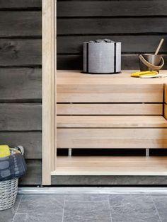 Sisustus - sauna - tasapainoinen ilme saunatilassa