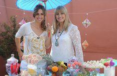 Una mesa fresca con bombones frutales y de chocolate con detalles de origami, pintura sobre porcelana Herminia Devoto y Paula Domenech Celebraciones en Familia - https://www.youtube.com/user/ManosalaObraTV?sub_confirmation=1