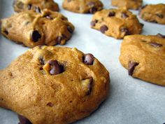 PUmpkin Chocolate Chip Cookies -- try this one sometime