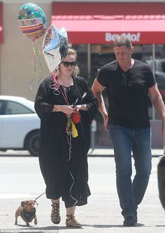 Adele out and about.