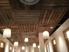 Beautiful Pallet Ceiling Ideas | Pallets Furniture Designs