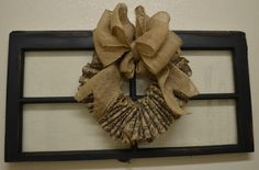 Very simple burlap wreath tutorial - uses a wire coat hanger instead of a wreath form