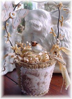 Peat Pot Easter basket