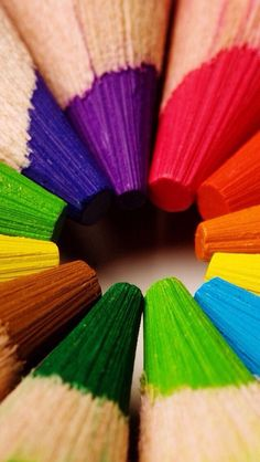 colored pencils.