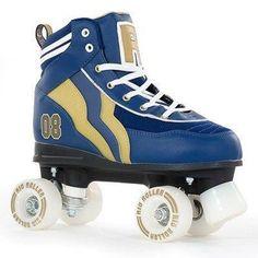 ROLLER IN LINE Rio Roller Varsity Quad Skate Blue Gold