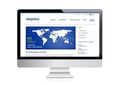 holzweg e-commerce solutions - Webauftritt Alupress #screendesign #usability