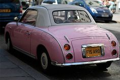 """Oh La La...  Another """"pink"""" car - Not sure what this is but, """"Columbo"""" used to drive one of these vehicles on his t.v. series..."""
