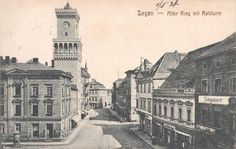 Rynek (Alter Ring; Kornmarkt; Buttermarkt), Żagań - 1921 rok, stare zdjęcia