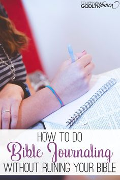 What a great idea for Bible Journaling without ruining your Bible! I wish I would have thought of this!