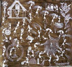 ORIGINAL WORK BY WARLI ARTIST JIVYA SOMA MASHE