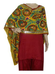 Super Georgette Stole Handembroidery SuperGeorgette Stole with Traditional Embroidery Work  Stole Length 2.25 Meter, Width 0.5 Meter  Wash Care Dry Clean Shop Now : http://www.jankiphulkari.com/yellow-super-georgette-stole-jsgs1207?___SID=U
