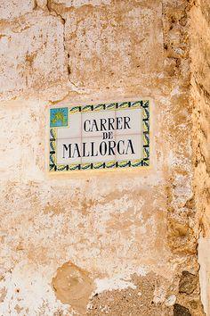 Royalty-free stock photo: Majorca Street tiled street sign