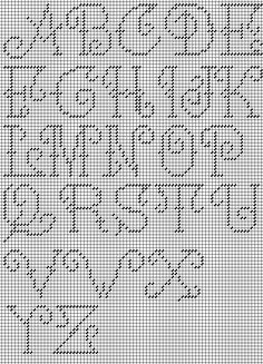 rechart adaptation copyright Napa Needlepoint - Second Crafting Plastic Canvas Letters, Plastic Canvas Stitches, Plastic Canvas Tissue Boxes, Plastic Canvas Crafts, Alphabet Charts, Cross Stitch Alphabet, Alphabet Letters, Letter Patterns, Canvas Patterns