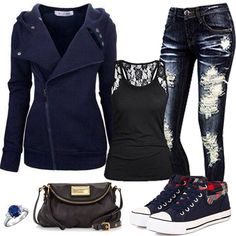 Dark grunge casual