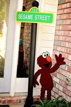 Hostess with the Mostess® - Sesame Street Birthday Party Sesame Street Party, Sesame Street Birthday, 2nd Birthday Parties, Birthday Ideas, Elmo, Party Ideas, Entertaining, Disney Characters, Kids