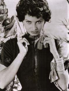 theniftyfifties:    Sophia Loren in 'Legend of the Lost', 1957.