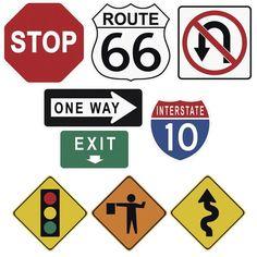 Road Construction Signs I Wallpaper Cut-Outs