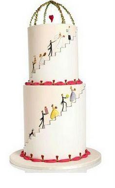 We found this beautiful Wedding Cake made by Wedding High www.weddinghigh,com