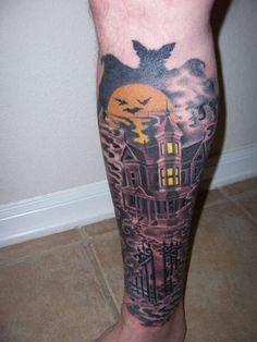 Halloween Tattoo Designs | My Haunted House tattoo