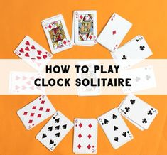 How to play solitaire card game known as clock solitaire, or clock patience. Fun game to keep kids busy. How to play solitaire card game known as clock solitaire, or clock patience. Fun game to keep kids busy. Card Games For One, Gift Card Games, Family Card Games, Math Card Games, Playing Card Games, Games With Cards, Card Games To Play, Clock Games For Kids, Two Person Card Games