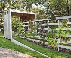 Garten Zaun Bepflanzen ModerneDesign Ideen