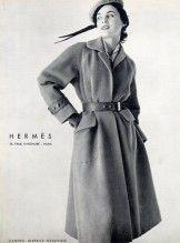 Hermès (Couture) 1954 Coat, Belt