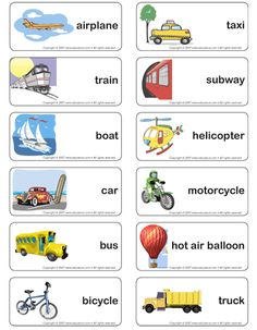 transportation word cards free -Repinned by Chesapeake College Adult Ed. We offer free classes on the Eastern Shore of MD to help you earn your GED - H.S. Diploma or Learn English (ESL) . For GED classes contact Danielle Thomas 410-829-6043 dthomas@chesapeake.edu For ESL classes contact Karen Luceti - 410-443-1163 Kluceti@chesapeake.edu . www.chesapeake.edu