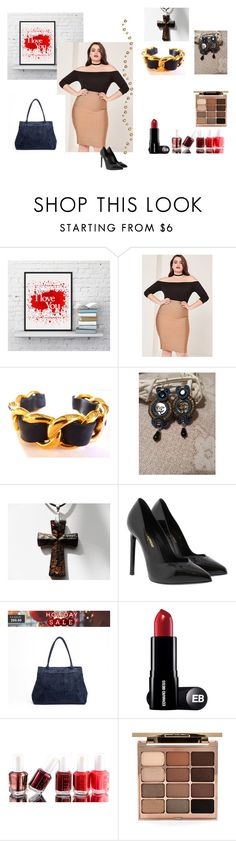 You Are Beautiful by cindyanne-mroz-hernandez on Polyvore featuring Missguided, Yves Saint Laurent, Chanel, Stila, Essie, prettypastels and etsyfru