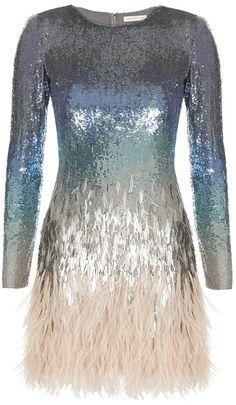 MATTHEW WILLIAMSON ENGLAND Ombre Sequin Mini Dress