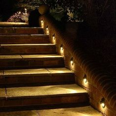 Benefits of Outdoor Stair Lighting — Trum House Interior Ideas Outdoor Stair Lighting, Fence Lighting, Cool Lighting, Task Lighting, Exterior Lighting, Stairs Outside The House, Outdoor Steps, Garden Steps, Garden Path