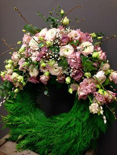 Flower Room Decor, Grave Decorations, In Loving Memory, Ikebana, Funeral, Floral Arrangements, Diy And Crafts, Floral Wreath, Wreaths