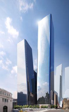Manhattan West tower in New York by SOM