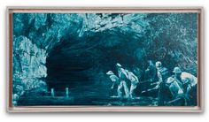 Mark Tansey Study for Myth of Depth II, 1987 Oil on canvas 14 x 30 inches. Follow #MarkTansey Pins on Pinterest, curated by Joseph K. Levene Fine Art, Ltd. | JKLFA.com | http://pinterest.com/jklfa/mark-tansey/