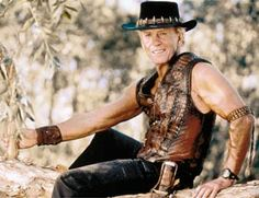 Paul Hogan as crocodile dundee id well known movie all over the world. This movie sets a great tone for Australia and its outback.