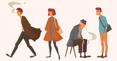 """Popatrz na ten projekt w @Behance: """"Characters"""" https://www.behance.net/gallery/47464715/Characters"""