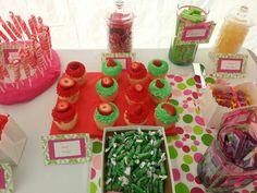 #Candybar #candystation #candybuffet #candydisplay #candy #babyshower #cupcakes #strawberryshortcake