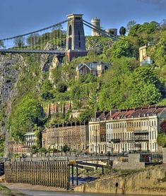 View of Clifton, Bristol, England. One of my faves. My heart smiles for Day to experience! Things to do in Bristol Clifton Bristol, City Of Bristol, Bristol Uk, The Places Youll Go, Great Places, Places To See, Clifton Village, Isambard Kingdom Brunel, Viajes