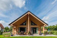 Holzhaus Unterfranken, Außenansicht von Fullwood Blockhaus