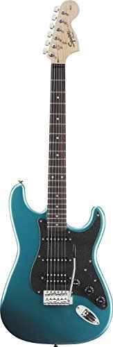 Squier by Fender Affinity Stratocaster HSS Electric Guitar, Rosewood Fingerboard, Lake Placid Blue