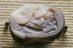 Satyr,  Etruscan 550 B.C.     2.2cm wide